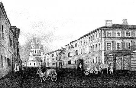 Район «Рогожки» с видом церкви Преподобного Сергия – таким он был в начале XIX века
