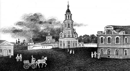 Панорама Андроникова монастыря начала XIX века